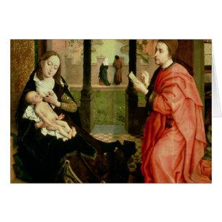 St Luke, das ein Porträt der Jungfrau zeichnet Karte