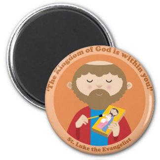 St Luke der Evangelist Runder Magnet 5,1 Cm