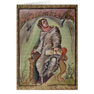 St Mark an seinem Schreibtisch Karte