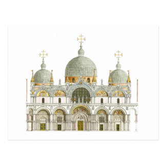 St Mark Basilika. Venedig Italien Postkarte