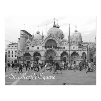 St Mark Quadrat Postkarte