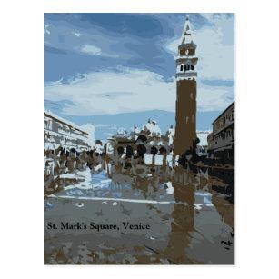 St Mark Quadrat, Venedig, Italien Postkarte
