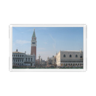 St Mark Quadrat vom Canal Grande Acryl Tablett