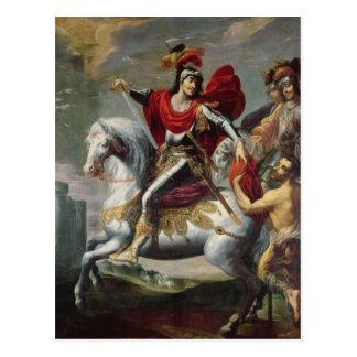 St Martin, das seinen Mantel mit dem Bettler teilt Postkarten