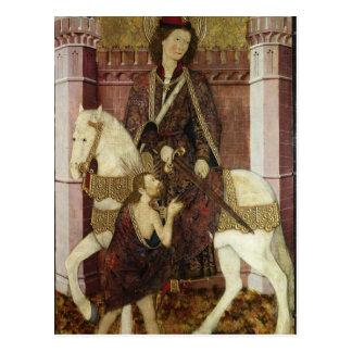 St Martin, das seinen Mantel teilt Postkarte