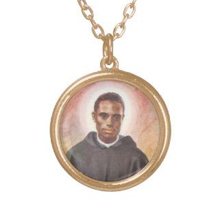 St Martin de Porres Necklace Halskette Mit Rundem Anhänger