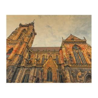St Martin Kirche, Colmar, Frankreich Holzleinwand