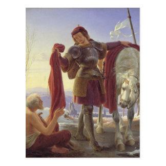 St Martin und der Bettler, 1836 Postkarte