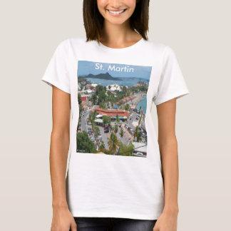 St Martin und Marigot Bucht-Foto T-Shirt