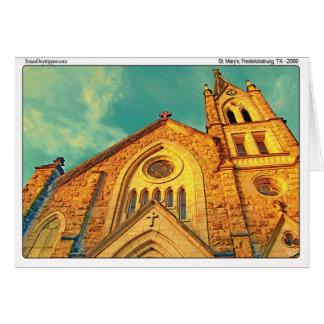 St Mary Kirche (2), Fredericksburg, TX Karte