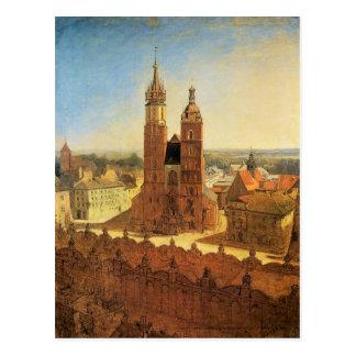 St Mary Kirche bis Januar Matejko Postkarte