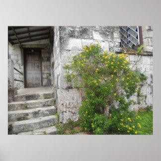 St Mary Kirchen-Schritte Montpelier, Jamaika Poster