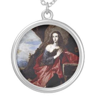 St Mary Magdalene Halskette Mit Rundem Anhänger