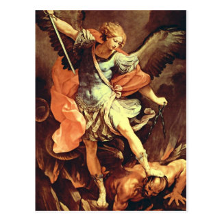 """St Michael der Erzengel"" durch Reni Postkarten"