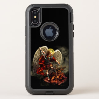 St Michael der Erzengel-Fall OtterBox Defender iPhone X Hülle