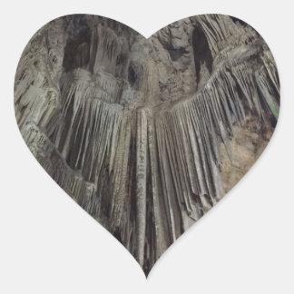 St Michael Höhle Herz-Aufkleber