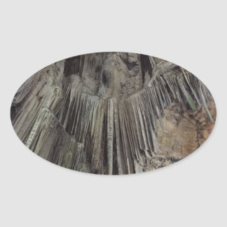 St Michael Höhle Ovaler Aufkleber