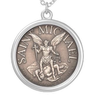 St Michael Pendent Halskette Mit Rundem Anhänger