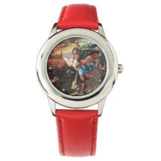 St Michael und der Drache Uhr