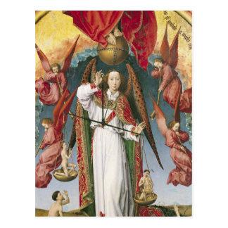 St Michael, welches die Soule wiegt Postkarte