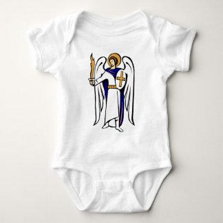 St- MichaelSäuglings-Strampler mit Gebet auf Baby Strampler