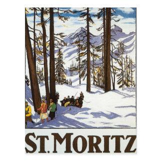 St Moritz Postkarte