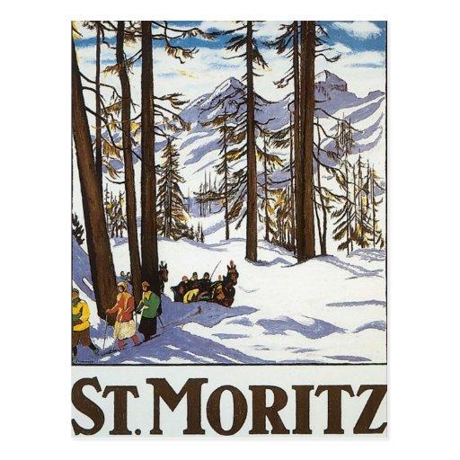 St Moritz Postkarten