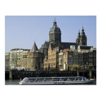 St. Nicolaaskerk und der Turm von den Rissen, Postkarte