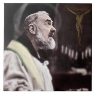 ST. PADRE PIO MASSE FEIERND KERAMIKFLIESE