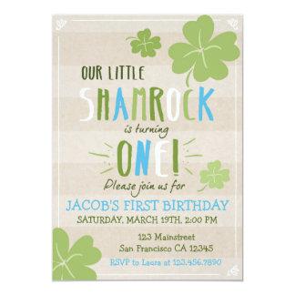 St Patrick Blatt-Klee-Geburtstag Tag4 laden ein Karte