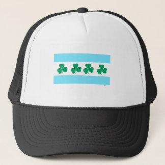 St Patrick Chicago-Färbung das Fluss-Grün Truckerkappe