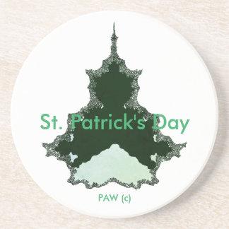 St Patrick Day_Abstract_Art_ Sandstein Untersetzer
