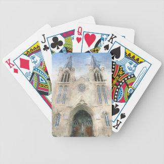 St Patrick gotische Wiederbelebungs-Kirchen-Kunst Bicycle Spielkarten