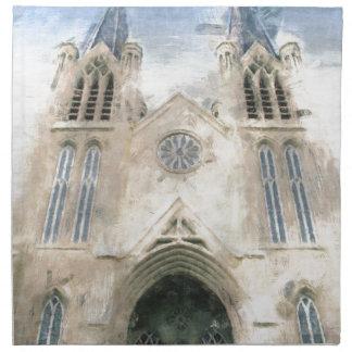 St Patrick gotische Wiederbelebungs-Kirchen-Kunst Stoffserviette