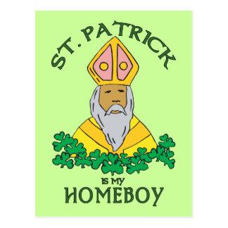 St Patrick ist mein Homeboy Postkarte