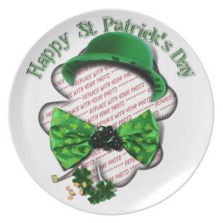 St Patrick Krawatte Tagesdes Flache Teller