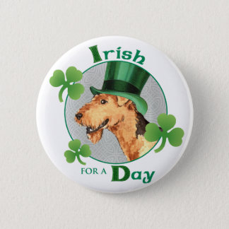 St Patrick Tag Airedale Runder Button 5,1 Cm
