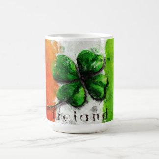 St Patrick Tag - Aquarell-Klee-Irland-Flagge Kaffeetasse