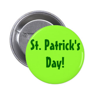 St Patrick Tag! Button