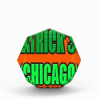 ST PATRICK TAG CHICAGO ACRYL AUSZEICHNUNG