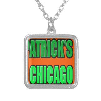 ST PATRICK TAG CHICAGO VERSILBERTE KETTE