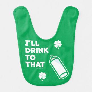 St Patrick Tag  , das ich zu dem trinke Babylätzchen