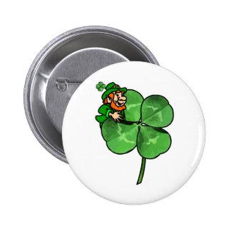 St Patrick Tag - gehen Iren! Runder Button 5,7 Cm