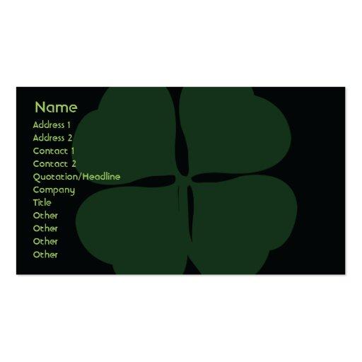 St Patrick Tag - Geschäft Visitenkarten Vorlage