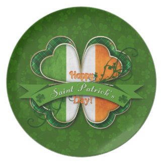 St Patrick Tag - glücklichen St Patrick Tag Flache Teller