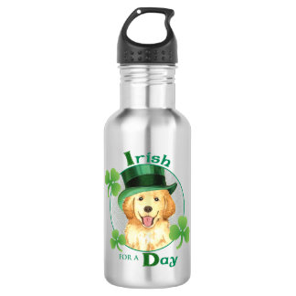 St Patrick Tag golden Trinkflasche