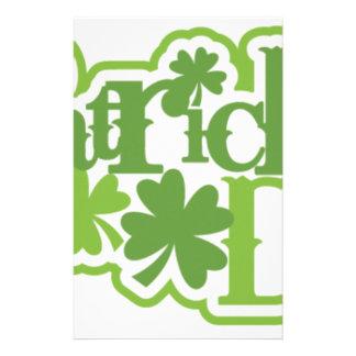 St Patrick Tag, Heiliger Patrick-Irenentwurf Briefpapier