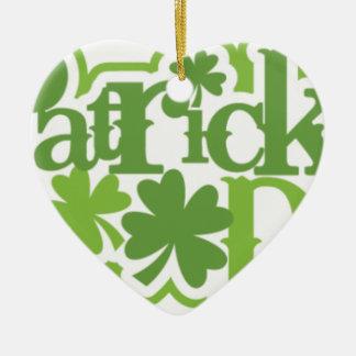 St Patrick Tag, Heiliger Patrick-Irenentwurf Keramik Ornament