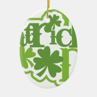 St Patrick Tag, Heiliger Patrick-Irenentwurf Ovales Keramik Ornament