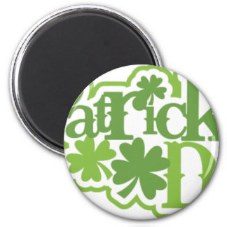 St Patrick Tag, Heiliger Patrick-Irenentwurf Runder Magnet 5,7 Cm